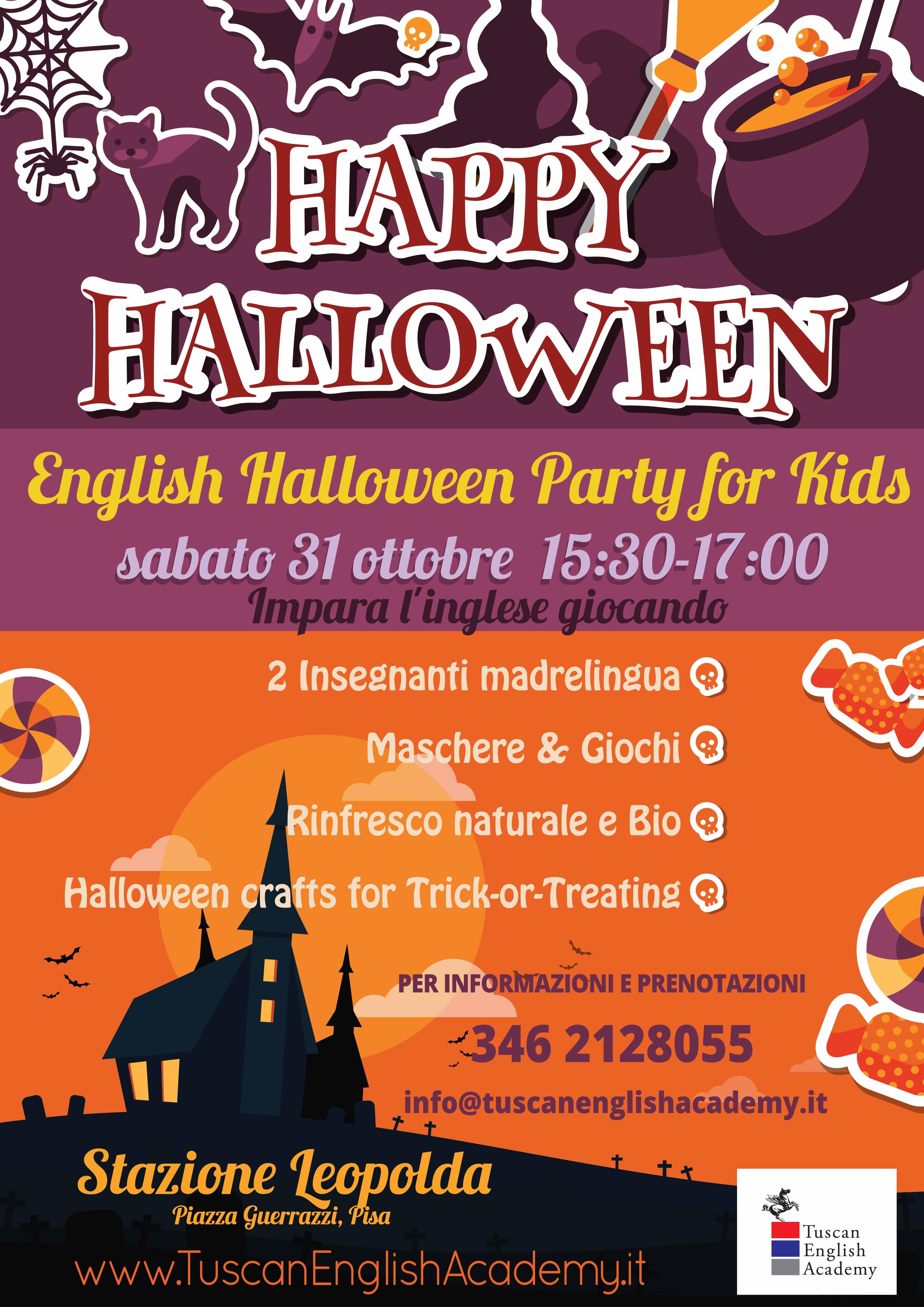 English Halloween Party for Children!  (Stazione Leopolda) - NEW ... b1906aa51212