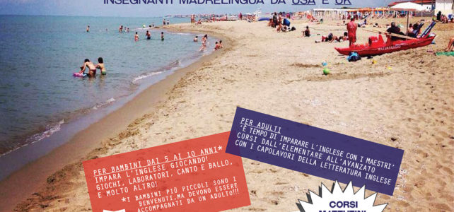 NEW: 'English on the Beach': Nuovi corsi di inglese per adulti e bambini al BAGNO DEGLI AMERICANI!!!
