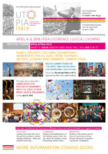 NEW: 'Utopia, Italy – A new festival for courageous dreamers' March 29- April8, 2018!