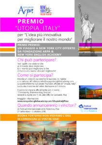 CHIUSO: 'Utopia Italy' Prize!!!