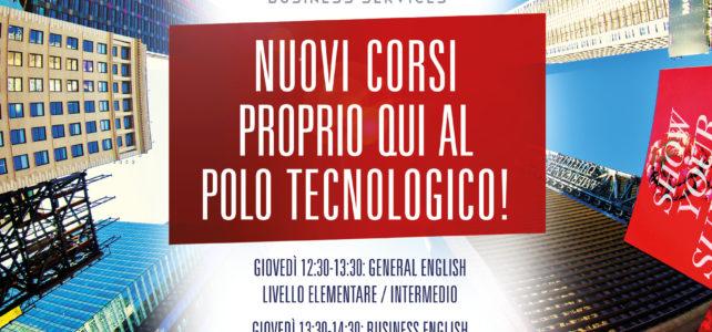 NUOVO SEMESTRE DAL 20 FEBBRAIO: Due corsi di 'Business English' al Polo Tecnologico Navacchio!